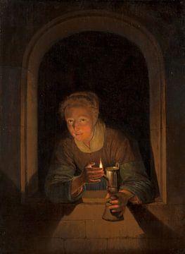 Meisje met een lamp van