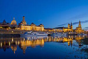 skyline van Dresden van Heiko Lehmann