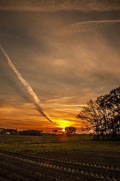 Zonsondergang in Ter Idzard van Rik Verbeek