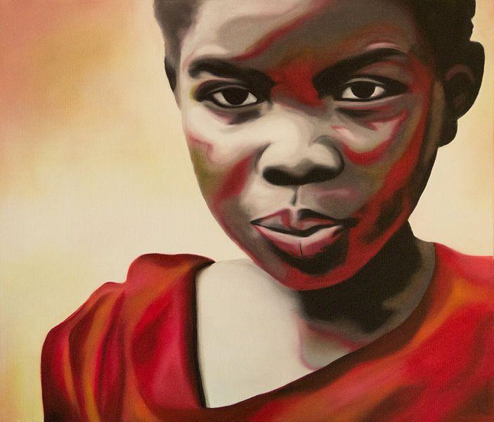 African Girl van anja verbruggen