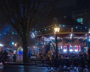 Wintermarkt in Leiden (2) van Bas Schneider