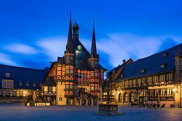 Das berühmte Rathaus in Wernigerode, Harz, Sachsen-Anhalt, Deutschland. von Henk Meijer Photography