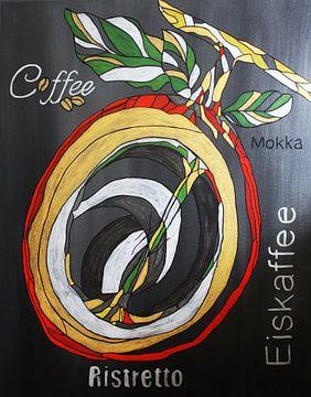 Koffie Mokka van Kathleen Artist Fine Art