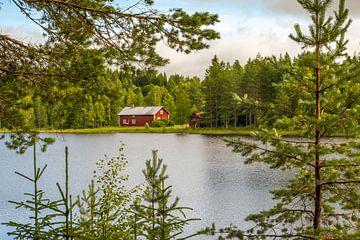 Zweeds huisje aan het meer van