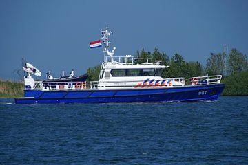 Politieboot van de Nationale politie Nederland. van Jarretera Photos
