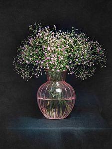 Stilleben rosa Gypsophila von Danny den Breejen