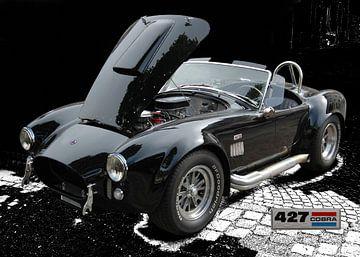AC Cobra 427 in zwart zuiver van aRi F. Huber