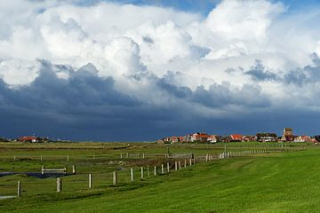 Wolken in de lucht Baltrum van Anja B. Schäfer