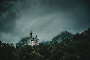 Schloß Neuschwanstein im Nebel