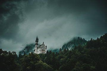 Schloß Neuschwanstein im Nebel von Tobias Reißbach
