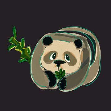 Panda beer van Raina Versluis