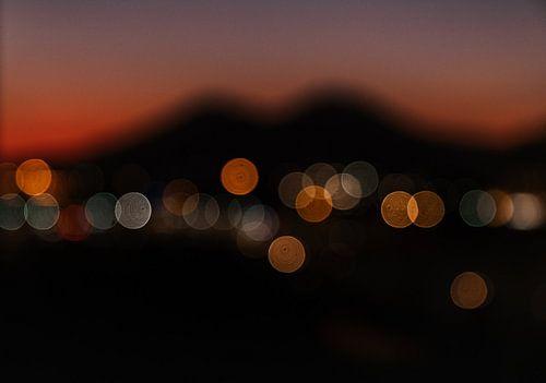 Napels en de Vesuvius in ochtendgloren