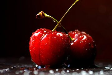 Rote frische Kirschen van Tanja Riedel