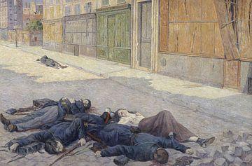 Eine Straße in Paris im Mai 1871. Maximilien Luce