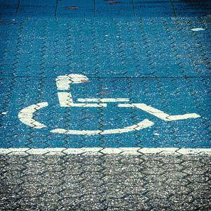 Traiectum blauw, parkeerplaats voor invalide