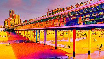Pier von Scheveningen von Digital Art Nederland