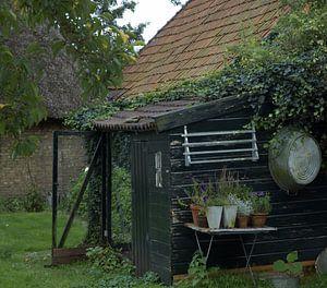 Nostalgisch kippenhok van Arie van Ledden