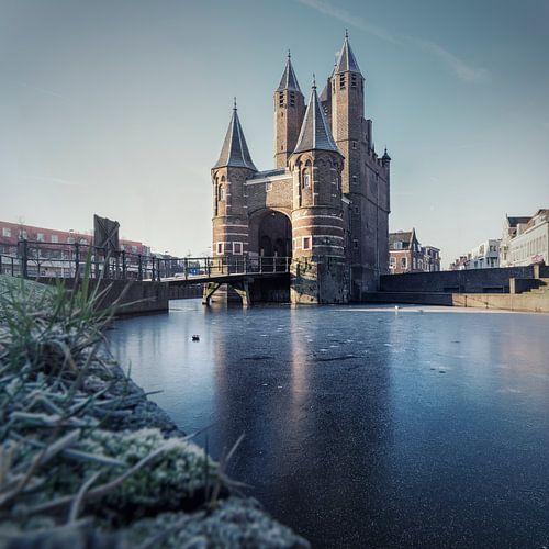 Haarlem: Amsterdamse Poort bevroren.
