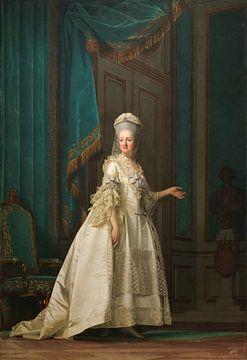 La reine douairière Juliane Marie, Vigilius Eriksen sur