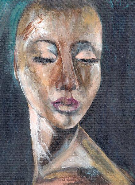 Portret vrouw Holi van Pam du Pau