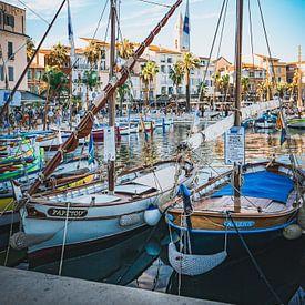 Idyllische haven in de Provence, Frankrijk van Daphne Groeneveld