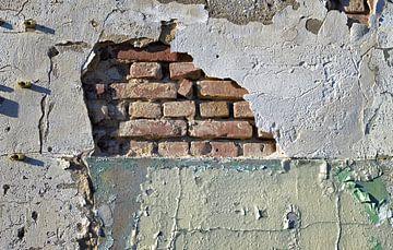 Oude vervallen fabrieksmuur van Gerard Veerling