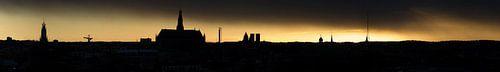 Panorama skyline Haarlem van
