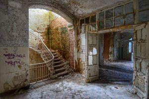 Staircase. Beelitz Heilstatten, Germany