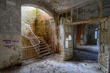 Staircase. Beelitz Heilstatten, Germany van