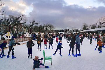 Amsterdam winter ijs van Marianna Pobedimova