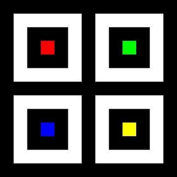 Genesteld | Center | 02x02 | N=2 | RGBY van Gerhard Haberern