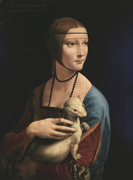 Dame mit Hermelin, Leonardo da Vinci von Meesterlijcke Meesters