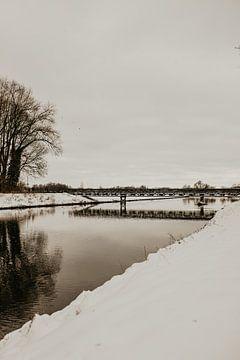 Schneelandschaft Nordbrabant von Sanne van Pinxten