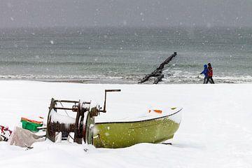 Ostseeküste in Ahrenshoop im Winter von Rico Ködder