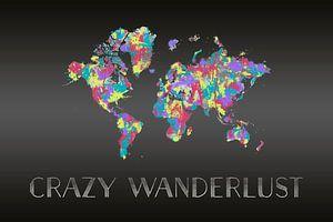 Grafikkunst CRAZY WANDERLUST | Farbspritzer