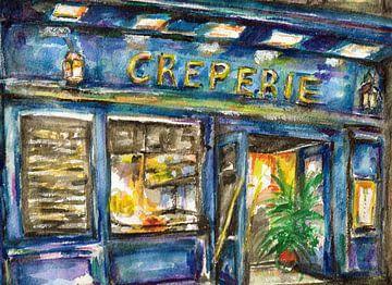 Crêperie oder in Paris von Ineke de Rijk