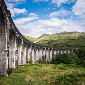 De brug uit Harry Potter, Glenfinnan Viaduct, Lochaber, fotoprint van Manja Herrebrugh - Outdoor by Manja