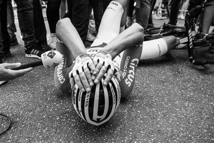 Mathieu van der Poel na de Amstel 2019 van Leon van Bon