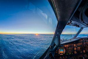 zonsondergang vanaf 11km hoogte