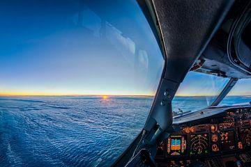 zonsondergang vanaf 11km hoogte van Martijn Kort