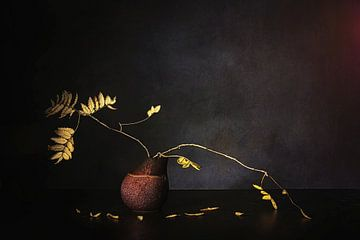 Zen stilleven . Herfst sfeer. van Saskia Dingemans