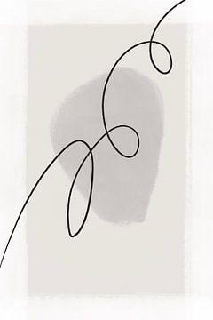 Moderne abstrakte Kunst - Linien 3 von Studio Malabar