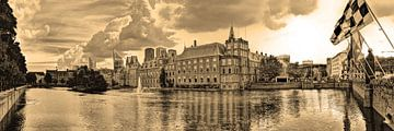 Binnenhof in Den Haag Niederlande Sepia von Hendrik-Jan Kornelis