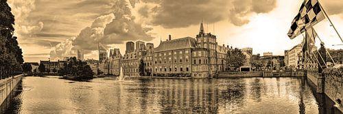 Binnenhof in Den Haag Nederland Sepia