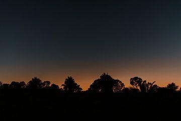 Prachtige zonsondergang in Portugal van Marloes Floor