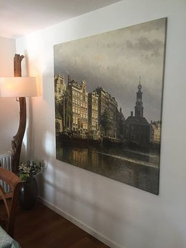 Kundenfoto: Het Singel te Amsterdam naar de Munt gezien
