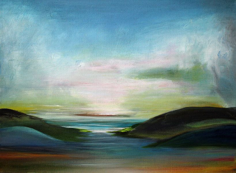 Small Landscape van Sylvia Evans