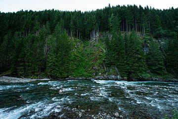 Rivier van Latefossen waterval, Noorwegen van Ellis Peeters