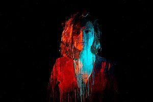 Rouge et bleu sur Luc V.be
