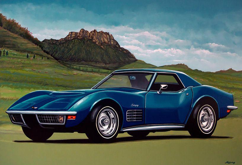 Chevrolet Corvette Stingray 1971 Schilderij van Paul Meijering